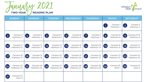 January: All-Church Reading Plan