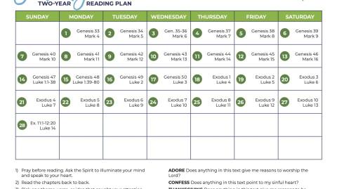February: All-Church Reading Plan