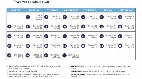 March: All-Church Reading Plan
