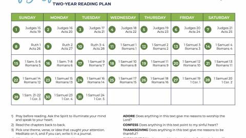August 2021: All-Church Reading Plan