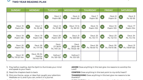 June 2021: All-Church Reading Plan