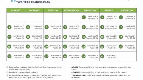 April: All-Church Reading Plan