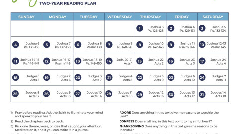 July 2021: All-Church Reading Plan